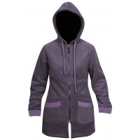 Moa Coat Wool Look Fleece WM, Purple., XS