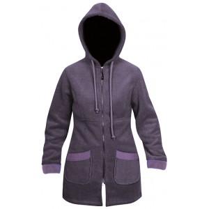 Moa Coat Wool Look Fleece WM, Purple., XS