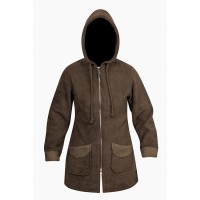 Moa Coat Wool Look Fleece WM, Chocolate, XL