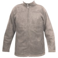 Moa Jacket Wool Look Fleece, Latte., 3XL