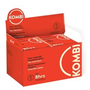 Kombi Toe Warmers Box 40, Red, One