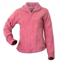 Moa Jacket Roll Collar Wool Loo, Rose Pink, XS