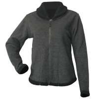 Moa Jacket Roll Collar WoolLoo, Grey/Black, XS