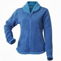 Moa Jacket Roll Collar WoolLoo, Blue, XS