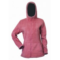 Moa Hoodie Wool Look, Rose Pink, XS