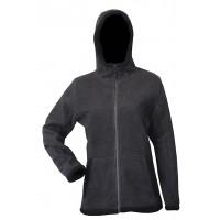 Moa Hoodie Wool Look, Grey/Black, XS