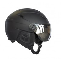 Helmet H05 Adult with Visor, Black, S