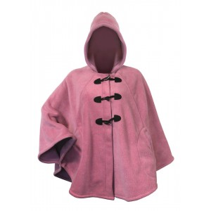 Moa Cape Wool Look, Rose Pink, S / M