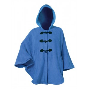 Moa Cape Wool Look, Blue, S / M