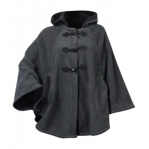 Moa Cape Wool Look, Grey/Black, S / M